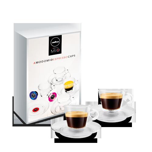 Set met 4 A Modo Mio Espressokop en schotels