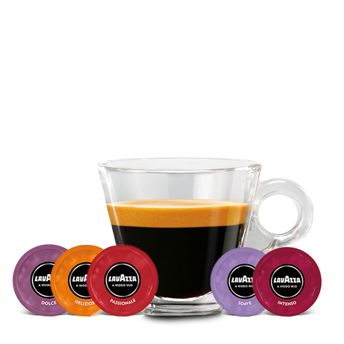 A Modo Mio Minu Cyan, Melkopschuimer, 4 Macchiatoglazen & Cups