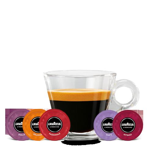 A Modo Mio Minu Red inclusief Melkopschuimer & 100 Cups