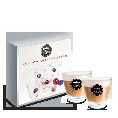 A Modo Mio Minu Red, Melkopschuimer, 4 Macchiatoglazen & Cups