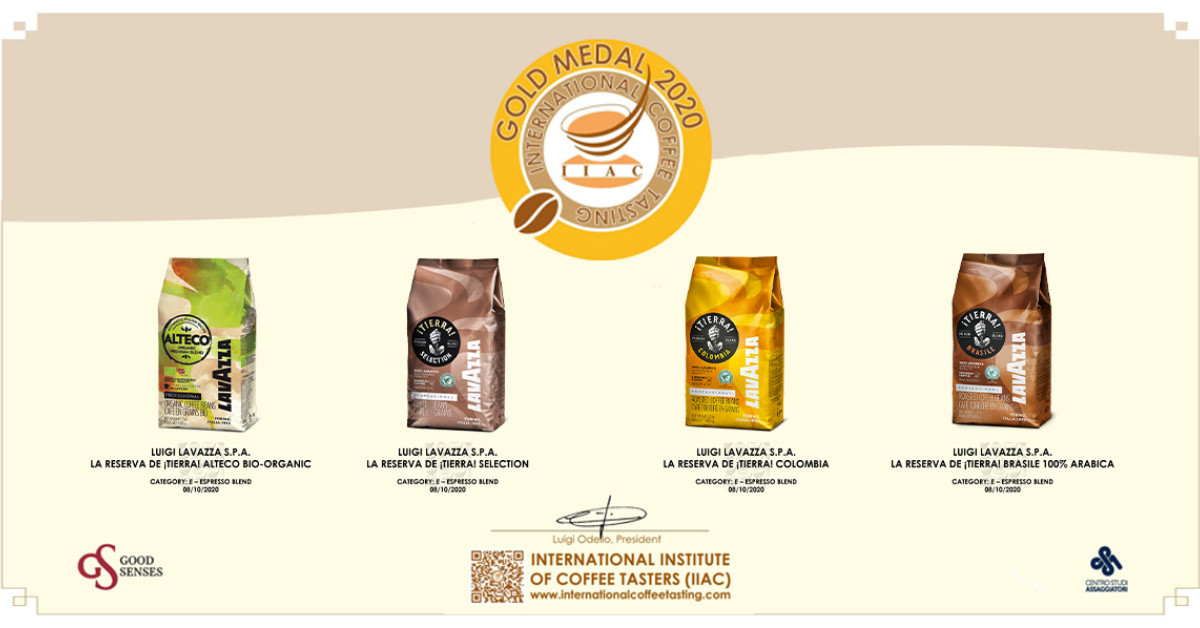 4 Koffies bekroond met de Gold Medal op de International Coffee Tasting 2020