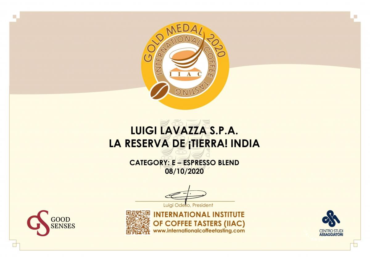 Gold Medal Certificaat